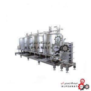 سیستم شستشوی cip چهار مرحله ای 600 لیتر